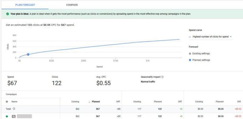 budget planner google