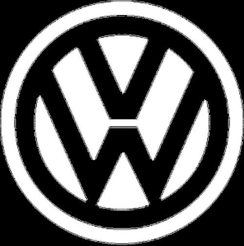 logo blanc volkswagen
